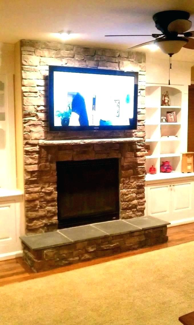 Tv Over Fireplace where to Put Components Elegant Tv Hidden In Wall – Slloydsfo