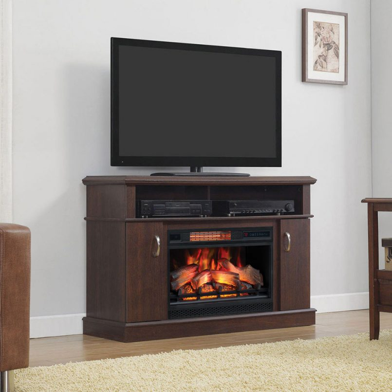 entertainment center with fireplace big lots lowes at 805x805