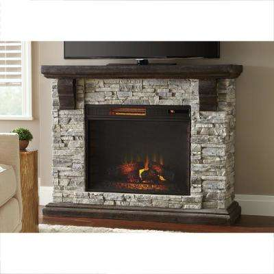 gray home decorators collection freestanding electric fireplaces 64 400 pressed