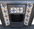 Victorian Fireplace Insert Awesome Antique Tiled Canopy Cast Iron Fireplace Insert