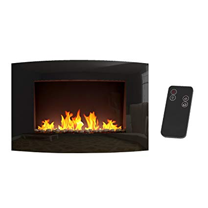 Wall Hanging Electric Fireplace Beautiful Panana S Wall Mounted Electric Fireplace Glass Heater Fire