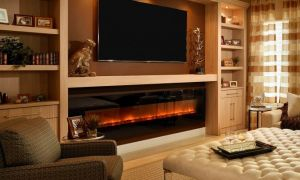 24 Unique Wall Mounted Electric Fireplace Design Ideas
