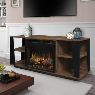"Millwood Pines Lewter TV Stand for TVs up to 55"" Electric Fireplace Millwood Pines"