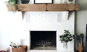 29 Unique White Painted Fireplace