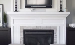 12 Unique White Wood Fireplace