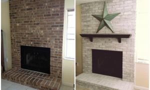 11 Lovely Whitewash Brick Fireplace before and after