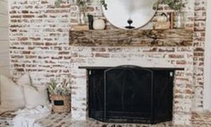 11 New Whitewashed Fireplace