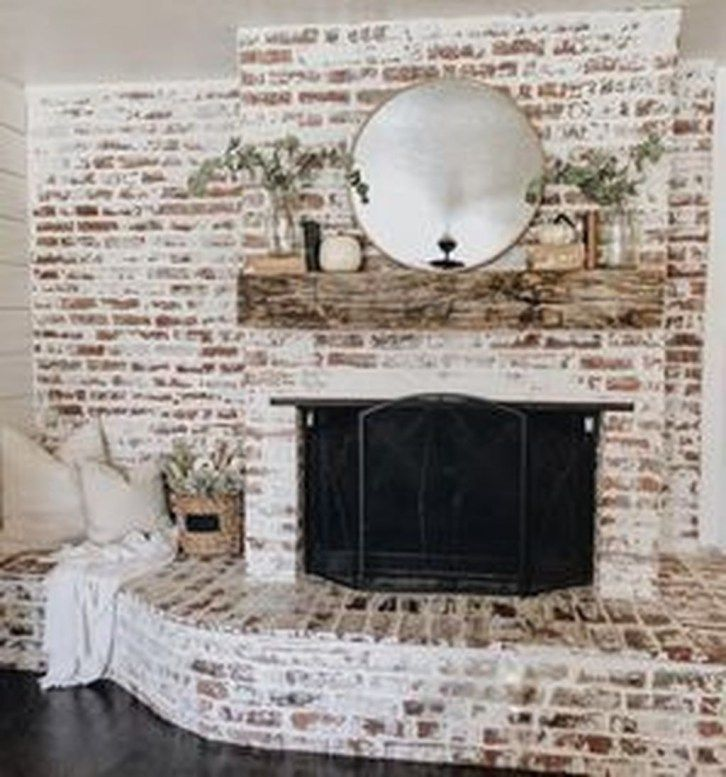 Whitewashed Fireplace Fresh Gorgeous Small Fireplace Makeover Ideas 43