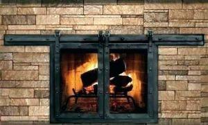 15 Beautiful Wood Burning Fireplace Glass Doors