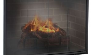 29 Elegant Wood Fireplace Doors