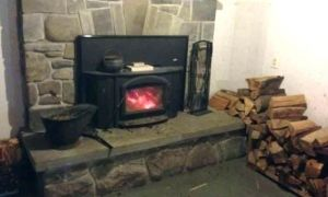 22 New Wood Fireplace with Gas Starter