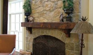 14 Unique Wood Mantel On Brick Fireplace
