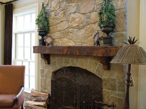 Wood Mantel On Brick Fireplace Elegant More sophisticated Rustic Mantle Simple Uncluttered