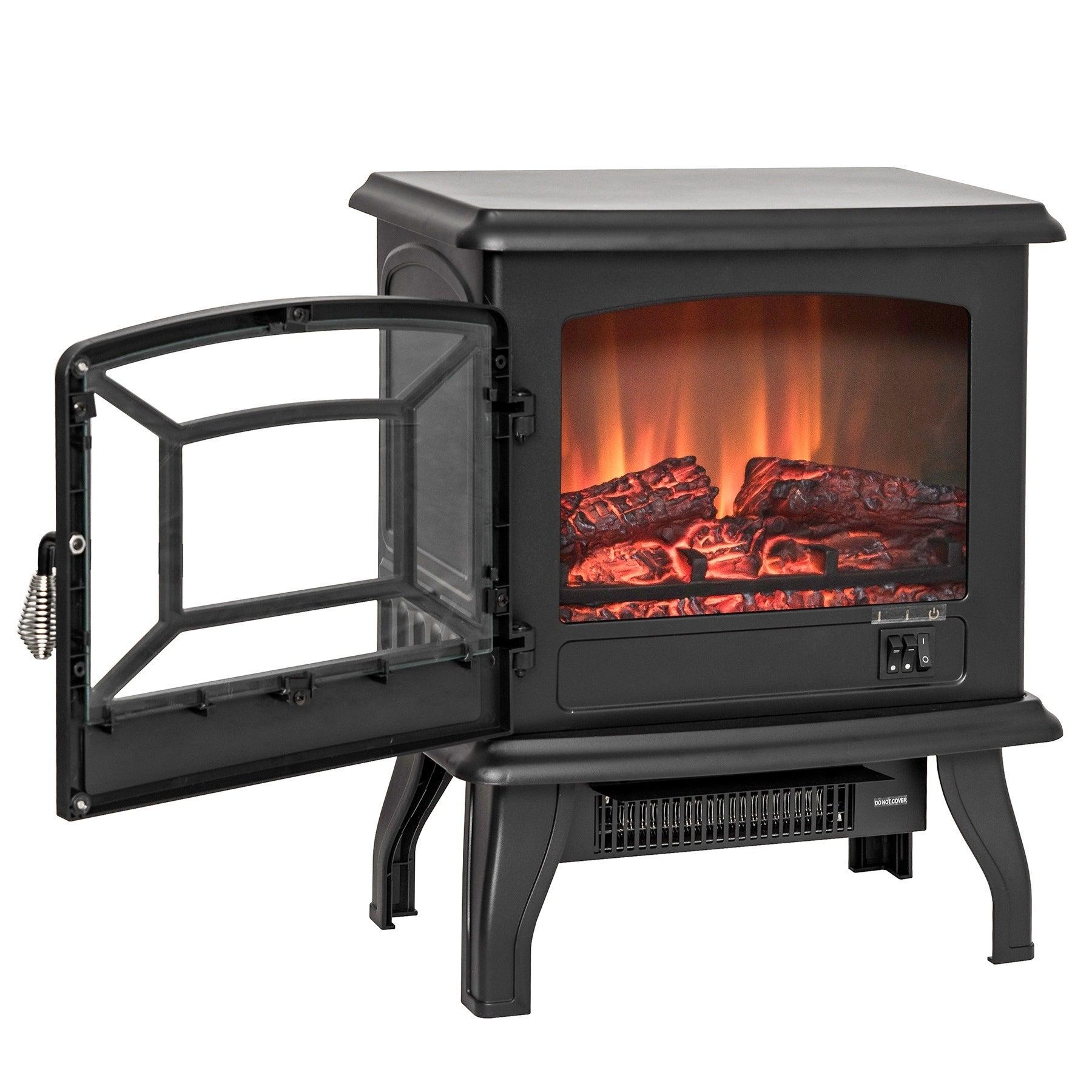 AKDY FP0078 17 Freestanding Portable Electric Fireplace 3D Flames Firebox w Logs Heater b59f183d 8c5c 41fe b60e 4f e528