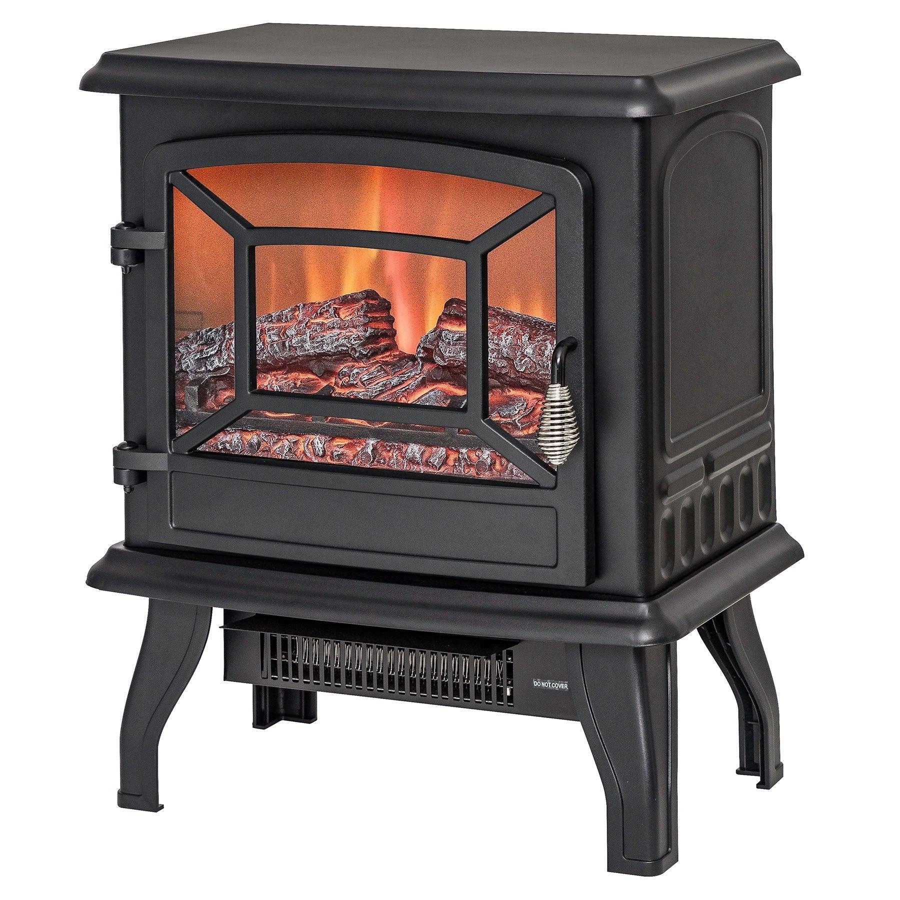 AKDY FP0078 17 Freestanding Portable Electric Fireplace 3D Flames Firebox w Logs Heater f0e0227f c45e 4d8a 80d4 a25b dd