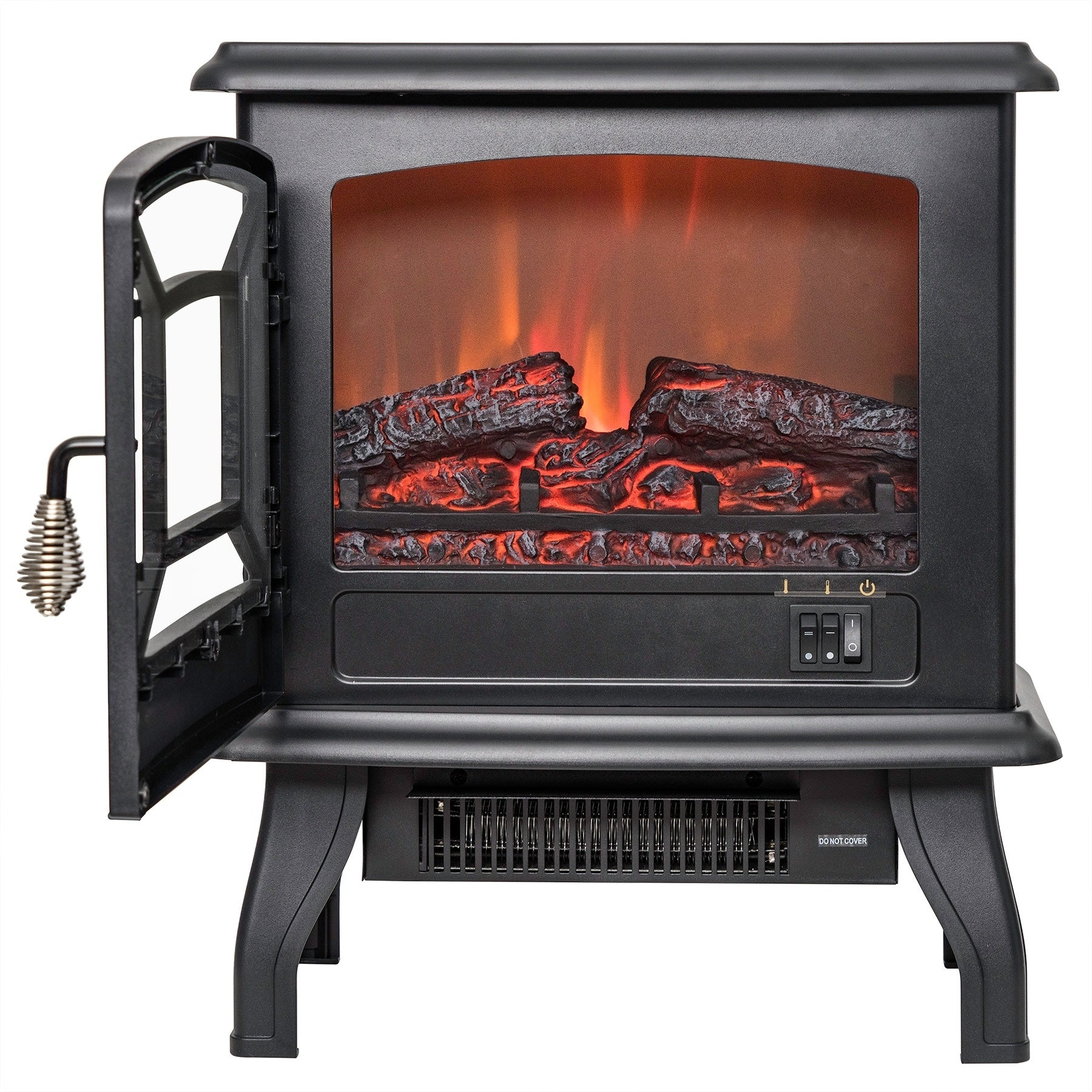 AKDY FP0078 17 Freestanding Portable Electric Fireplace 3D Flames Firebox w Logs Heater dc77dae8 f820 4899 b286 bbe353eb8030