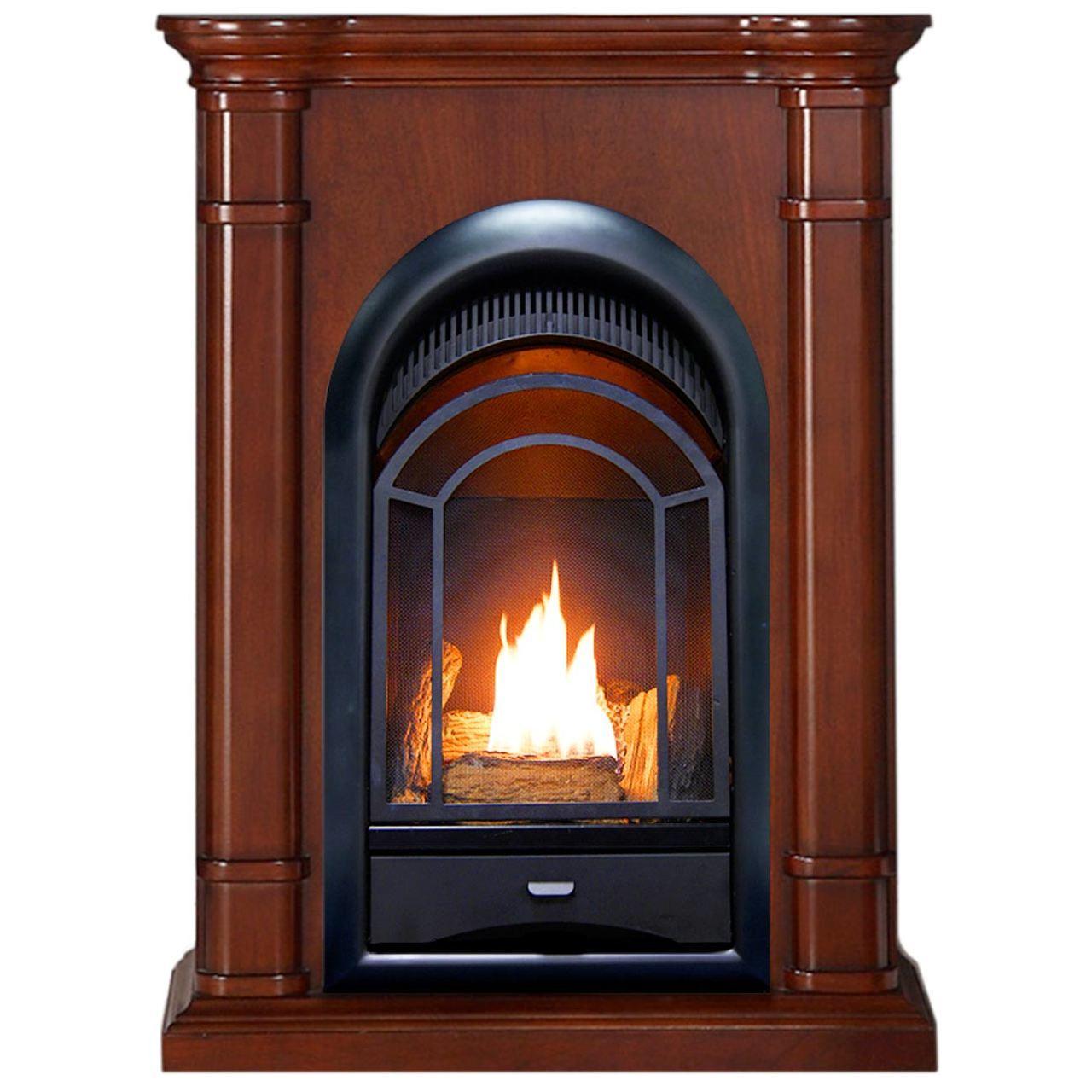 10000 Btu Electric Fireplace Inspirational Pro Fs100t 3w Ventless Fireplace System 10k Btu Duel Fuel thermostat Insert and Walnut Mantel