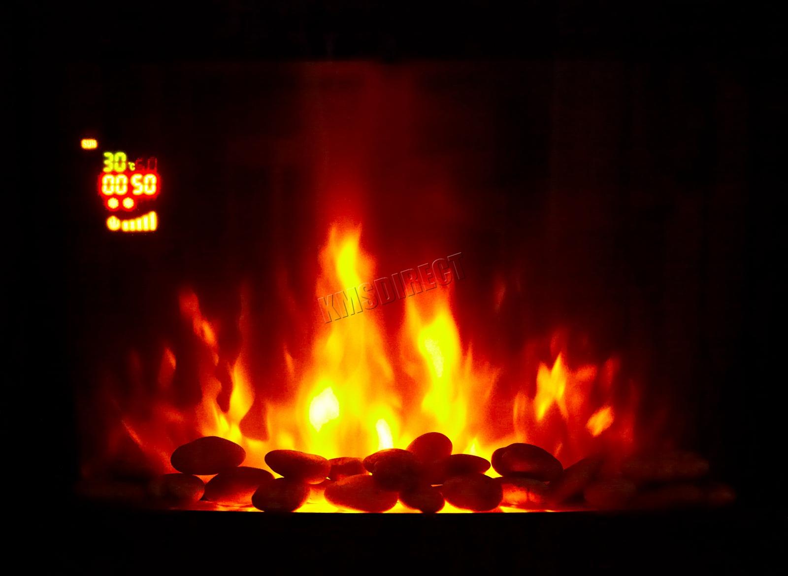 FIREPLACE LED BACKLIT EF453SLB 1800W KMSWM