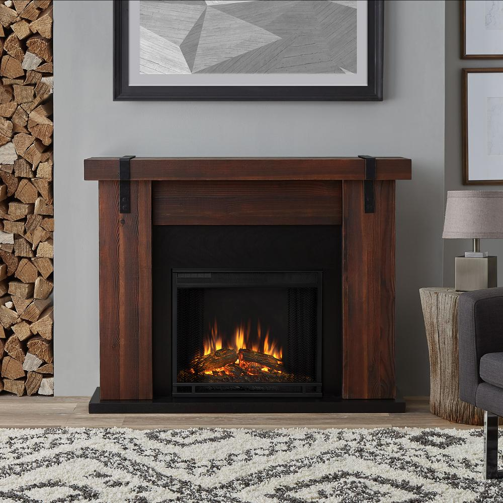 chestnut barnwood real flame fireplace tv stands 9220e chbw 64 1000