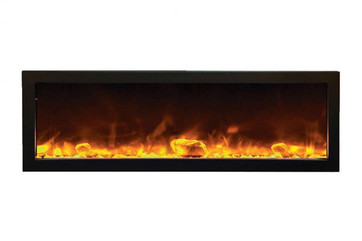 50 Inch Recessed Electric Fireplace Awesome Amazon Amantii Bi 50 Slim Od Outdoor Panorama Series