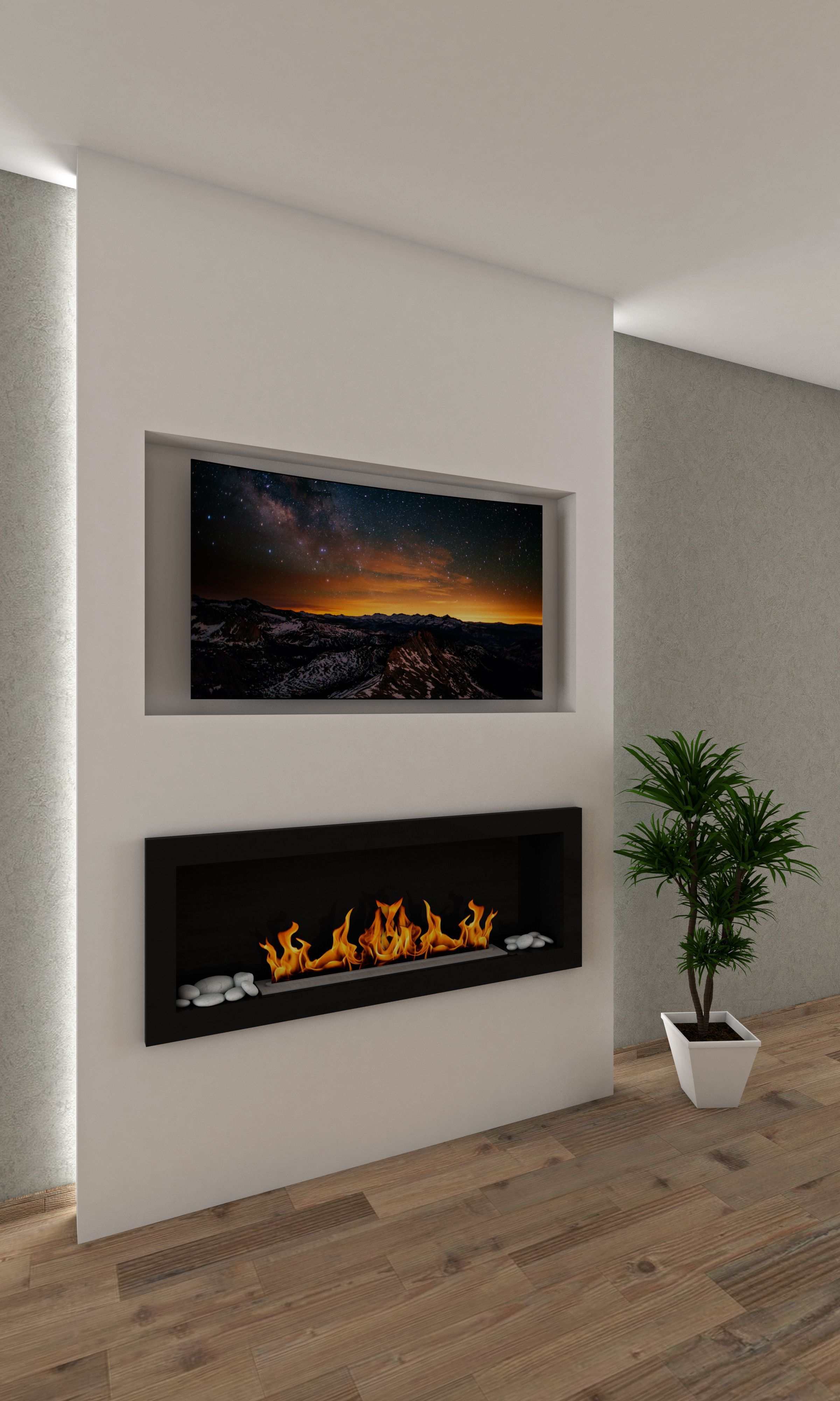 50 Inch Recessed Electric Fireplace Elegant Pin On Fireplace