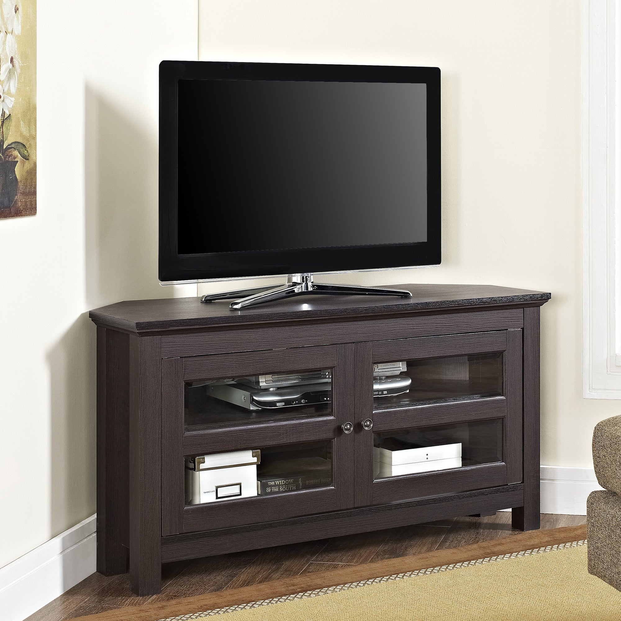 corner tv stand walmart plans white with mount wooden 50 inch wall 65 fireplace