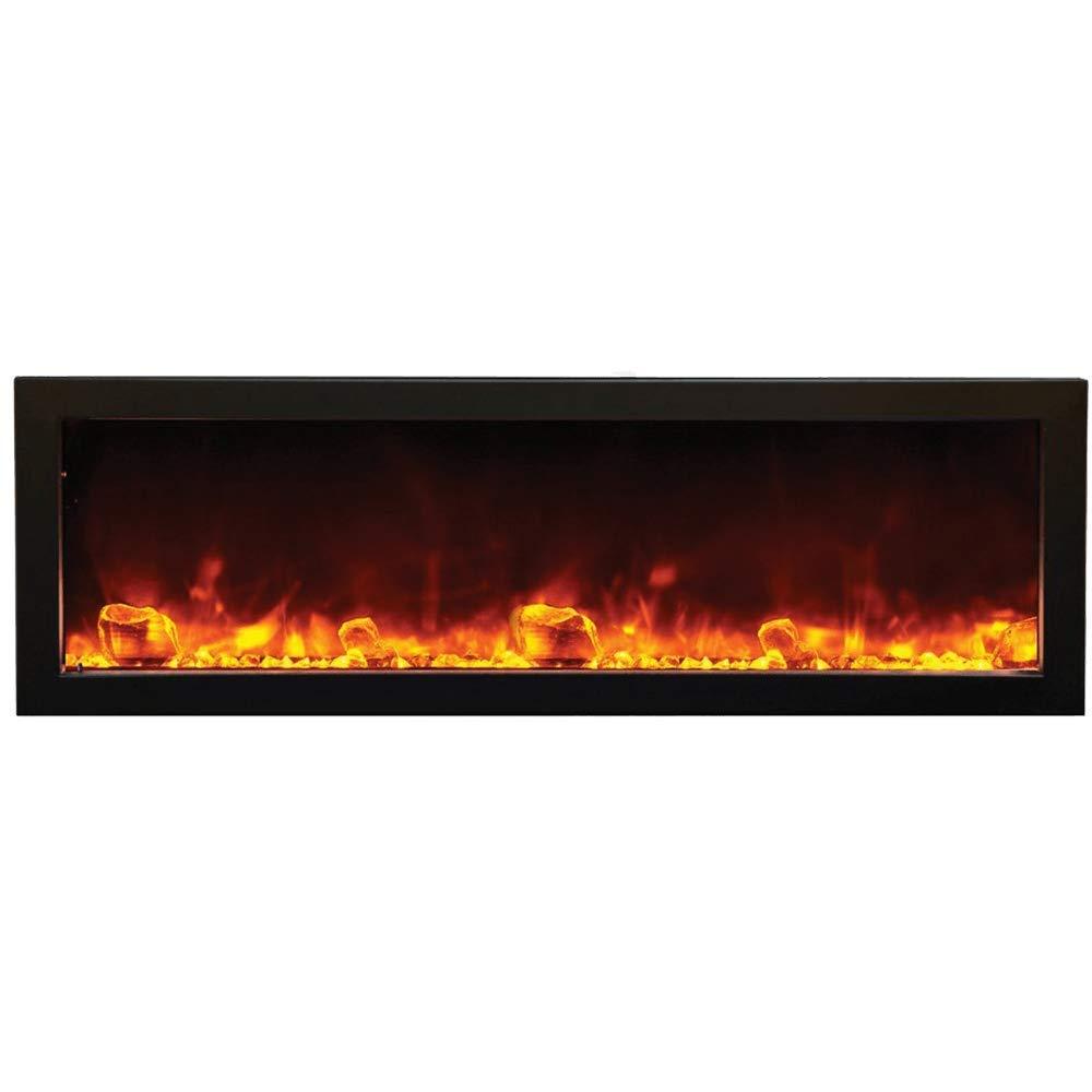 "60 Inch Tall Electric Fireplace Elegant Amantii Bi 60 Deep 60"" Wide X 12"" Deep Electric Fireplace"