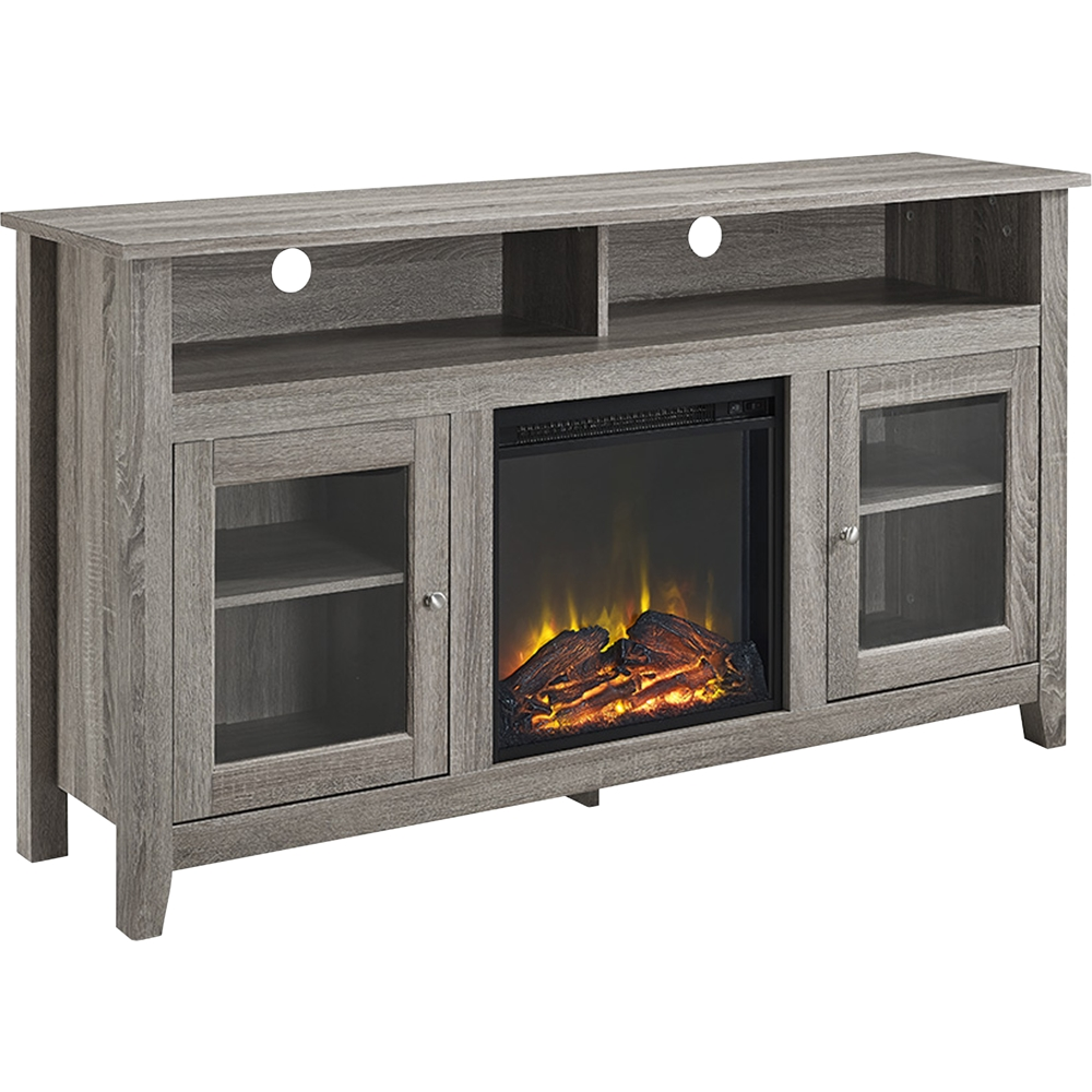 "65 Inch Electric Fireplace Best Of Walker Edison Freestanding Fireplace Cabinet Tv Stand for Most Flat Panel Tvs Up to 65"" Driftwood"