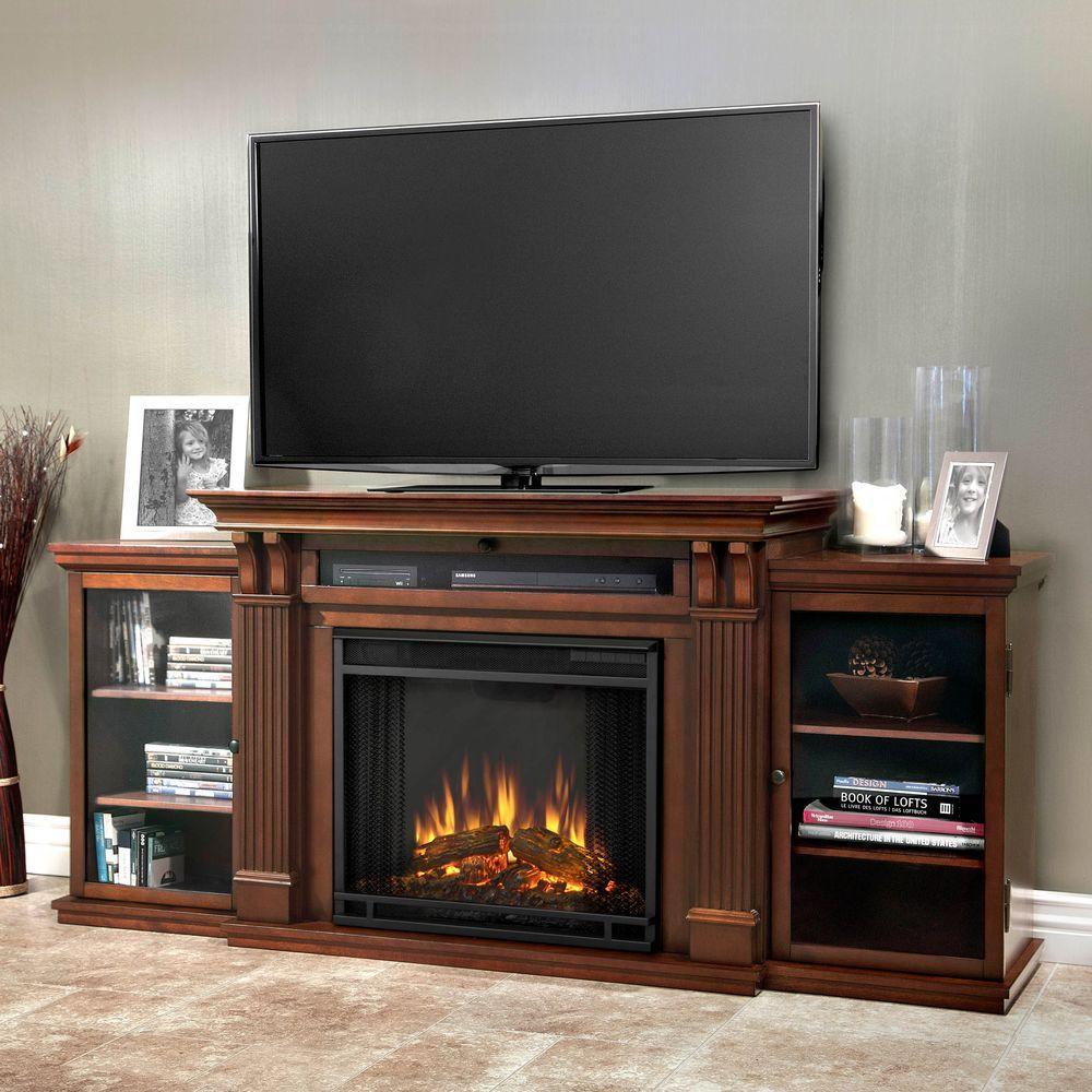 dark espresso real flame fireplace tv stands 7720e de 64 1000