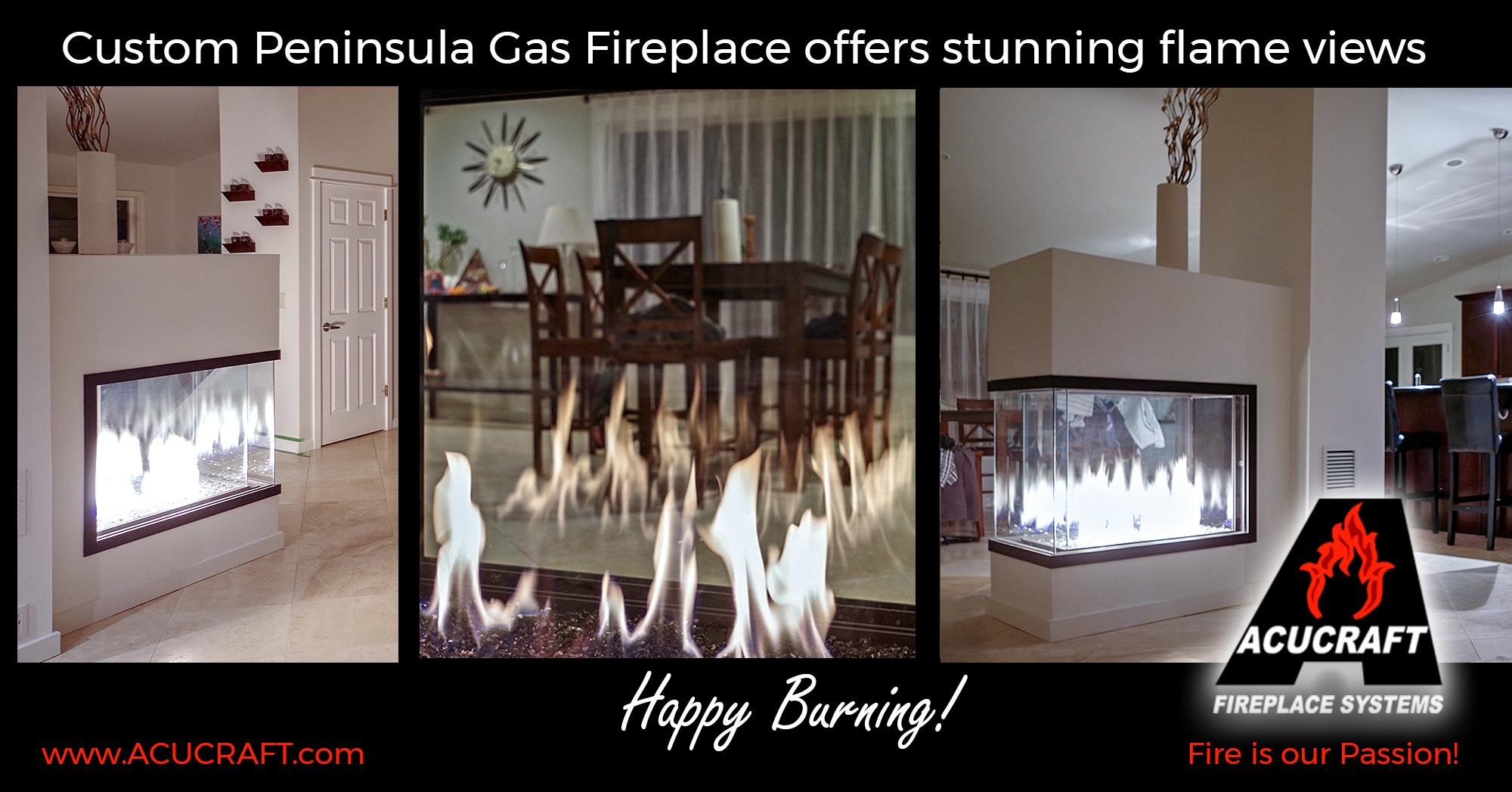 Acucraft Fireplace Beautiful Idea to Done Acucraft Custom Peninsula Gas Fireplace