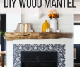 Add Fireplace to House Beautiful Our Rustic Diy Mantel How to Build A Mantel Love