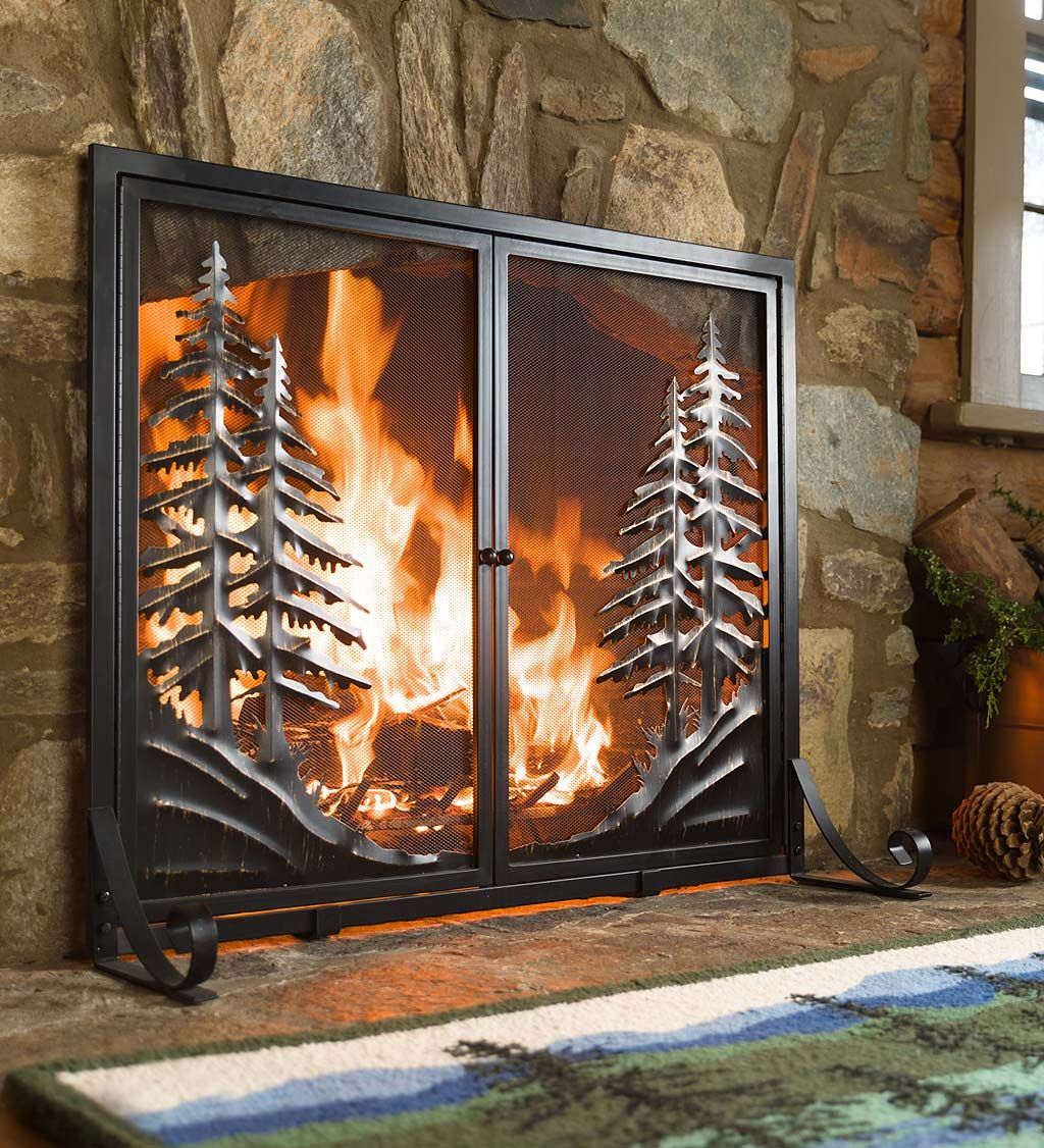 Alpine Gas Fireplaces Awesome Alpine Fireplace Screen with Doors Brings the Peace and