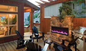 10 Elegant Amazon Outdoor Fireplace