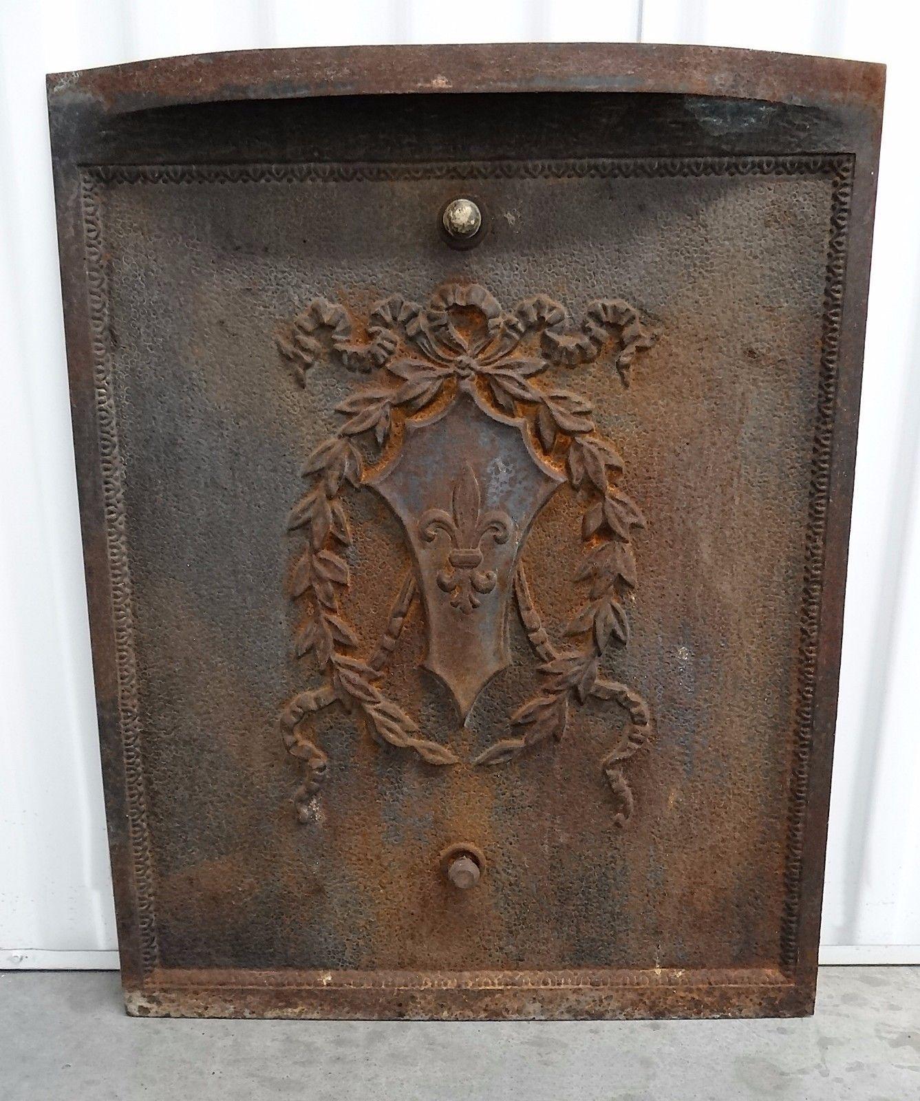 Antique Fireplace Cover Inspirational Vintage 1930 S 1940 S Cast Iron Fleur De Lis Coat Of Arm