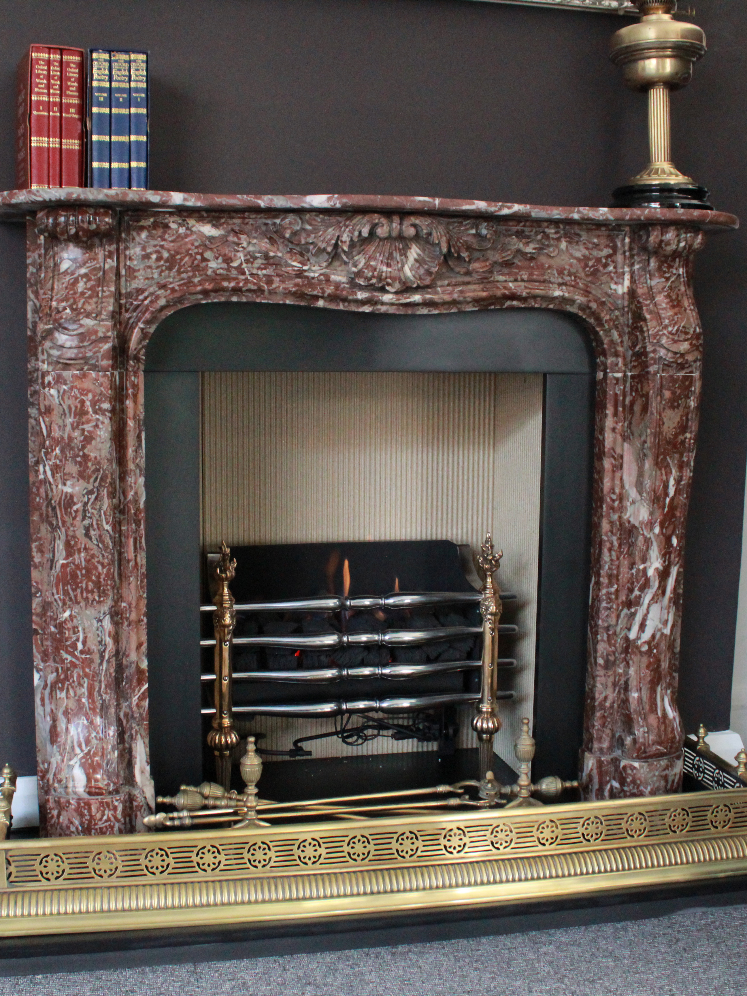traditional open fireplace 23
