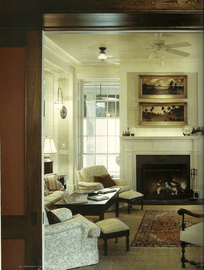 aaron daily architect new old house traditional living room