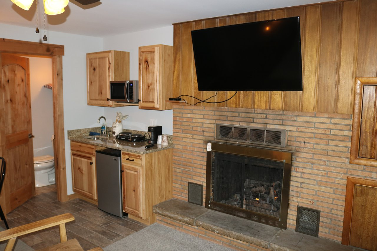 fireplace suite king