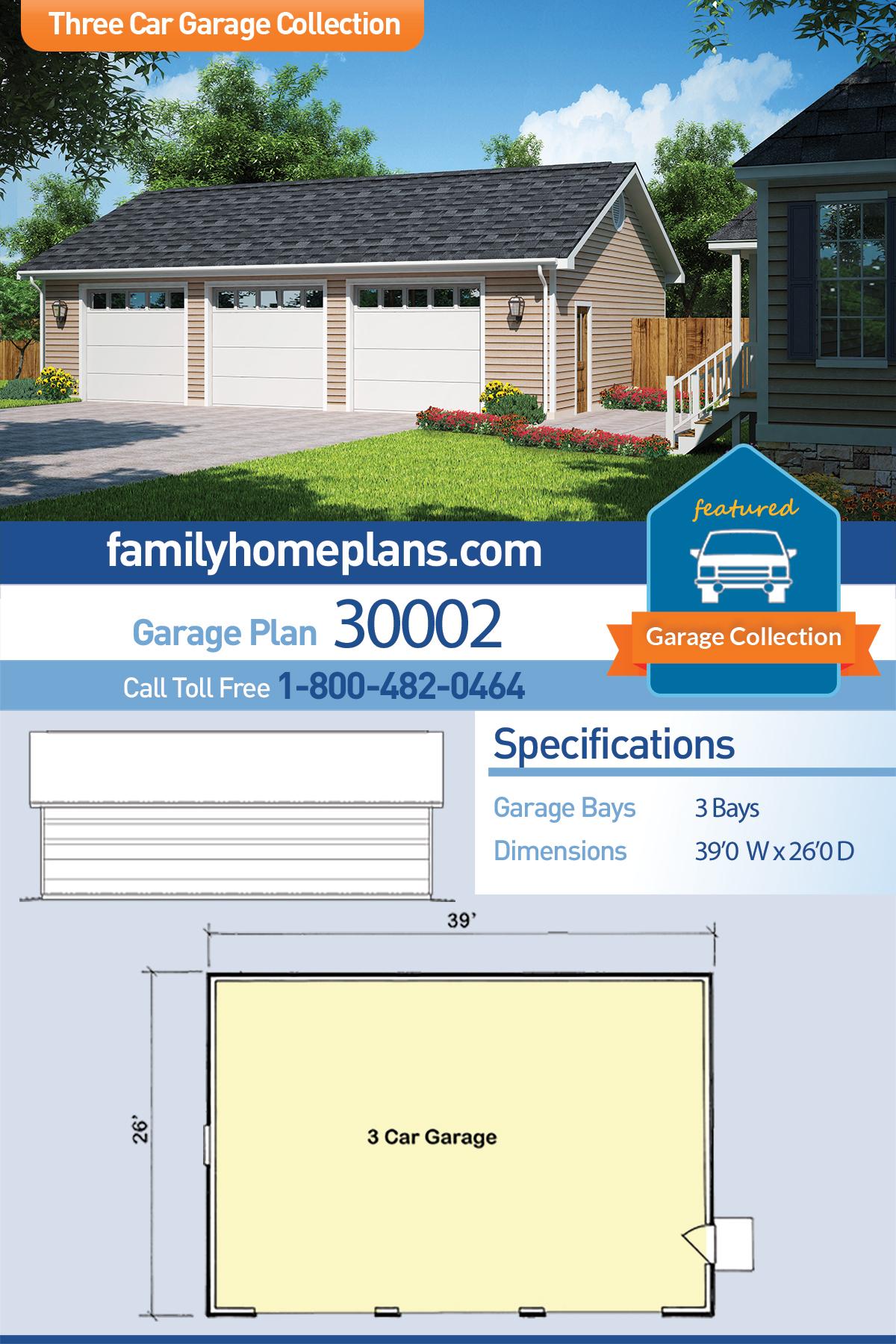 Average Fireplace Width Fresh Traditional Style 3 Car Garage Plan Number