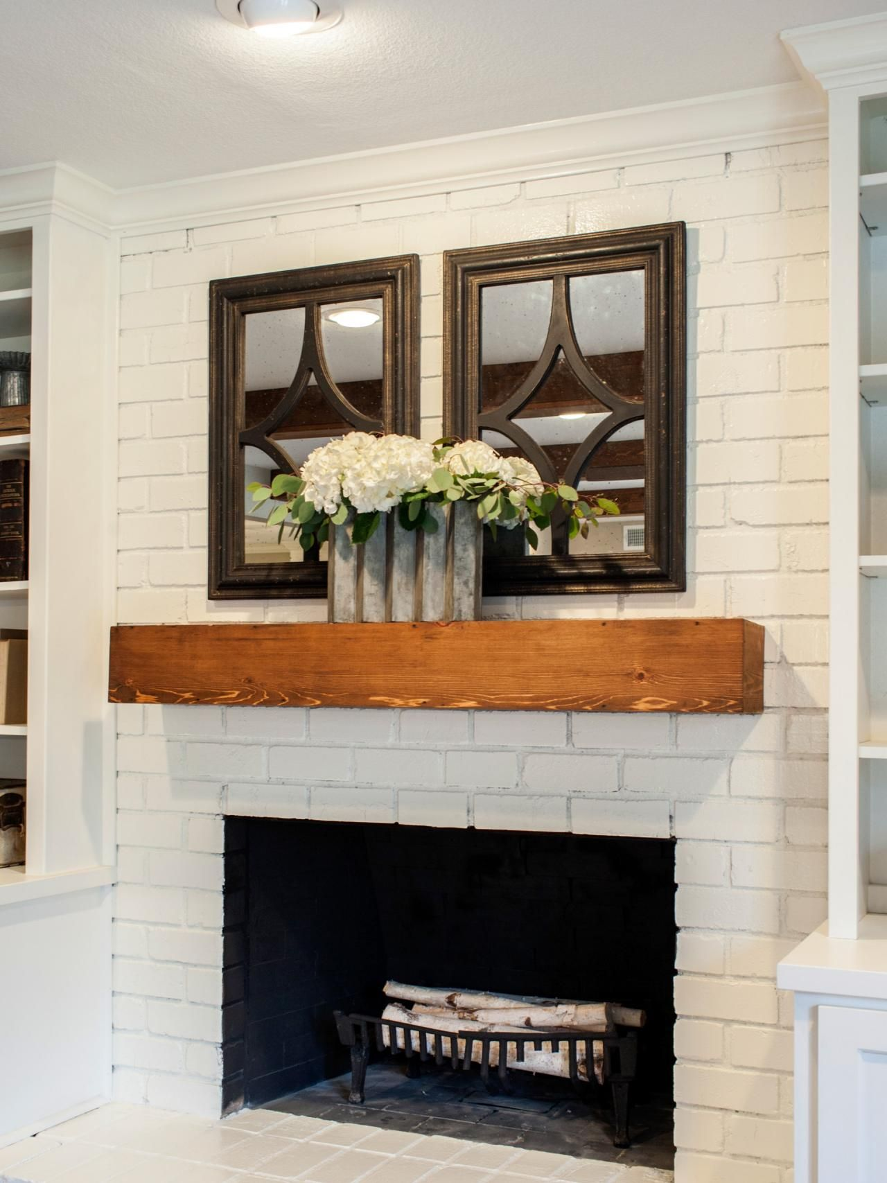 "Best Color to Paint Brick Fireplace Beautiful Fixer Upper A Fresh Update for A 1962 ""shingle Shack"