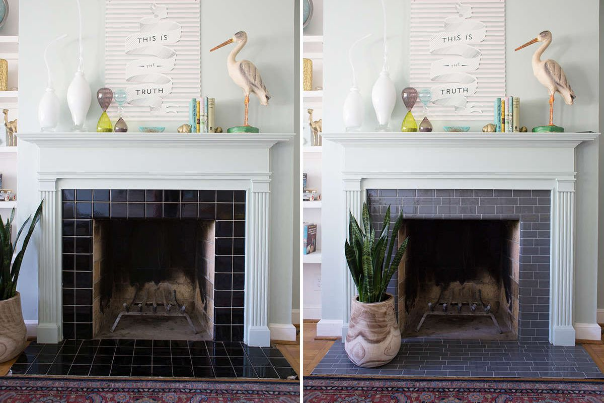 Best Color to Paint Brick Fireplace Fresh 25 Beautifully Tiled Fireplaces