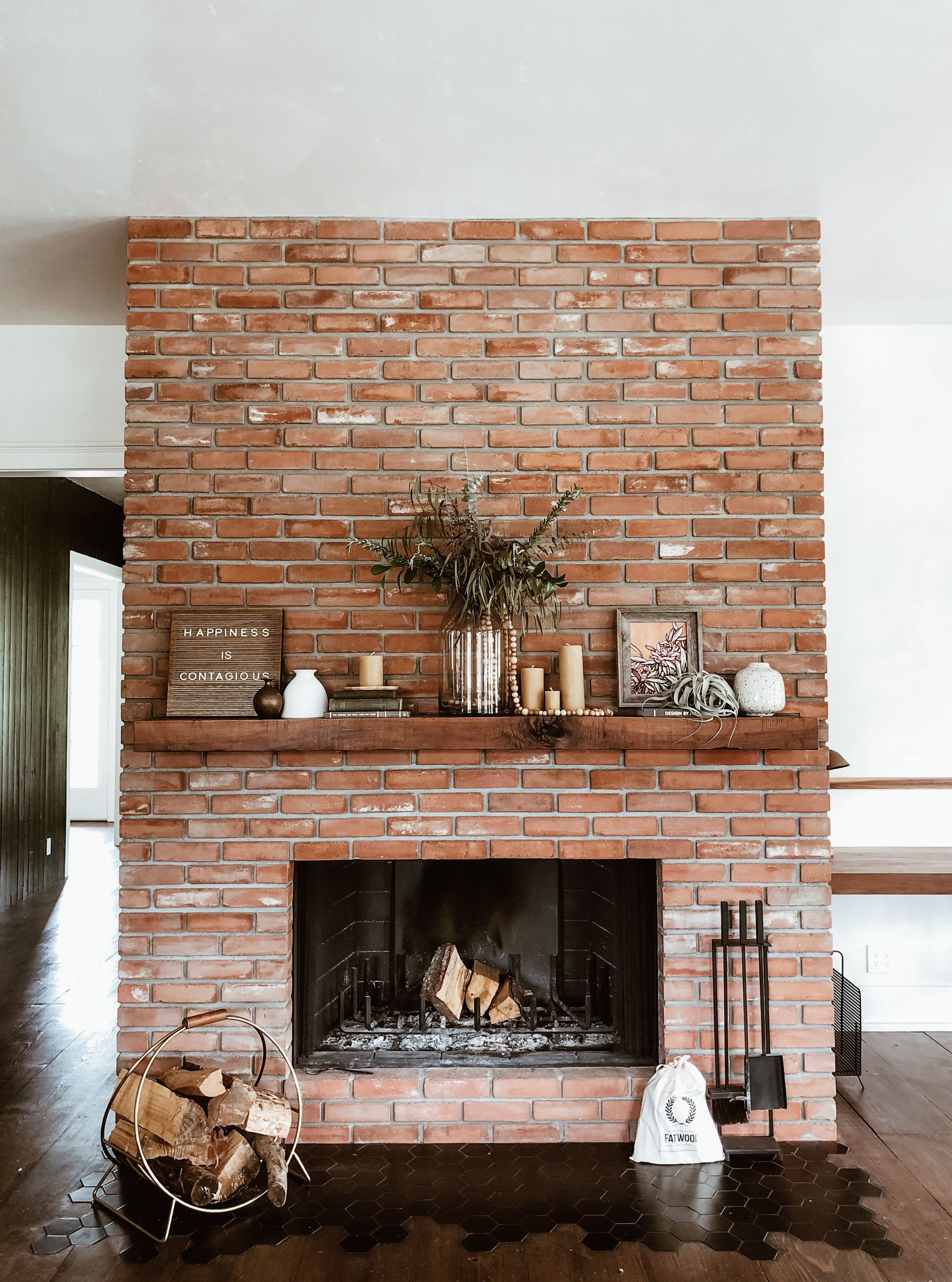 Best Color to Paint Brick Fireplace Inspirational This Living Room Transformation Features A 100 Year Old