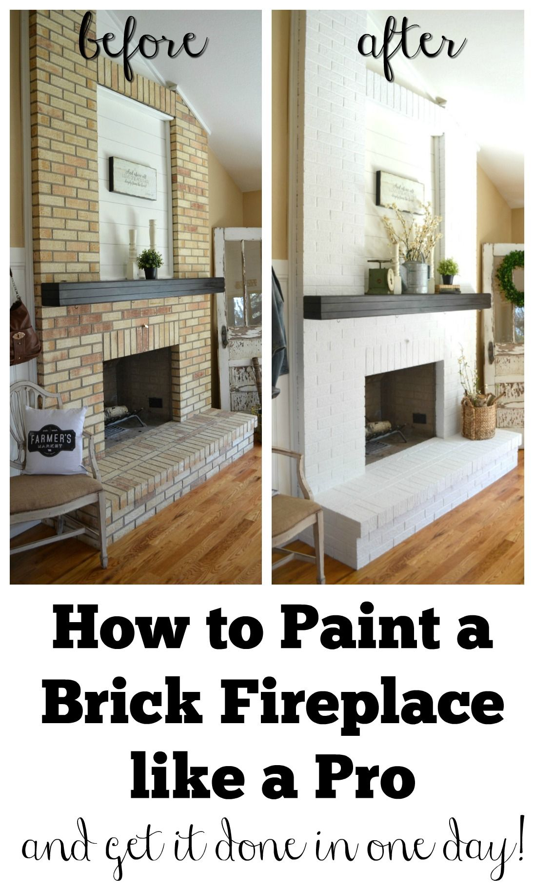 Best Color to Paint Brick Fireplace New How to Paint A Brick Fireplace Home Renovation