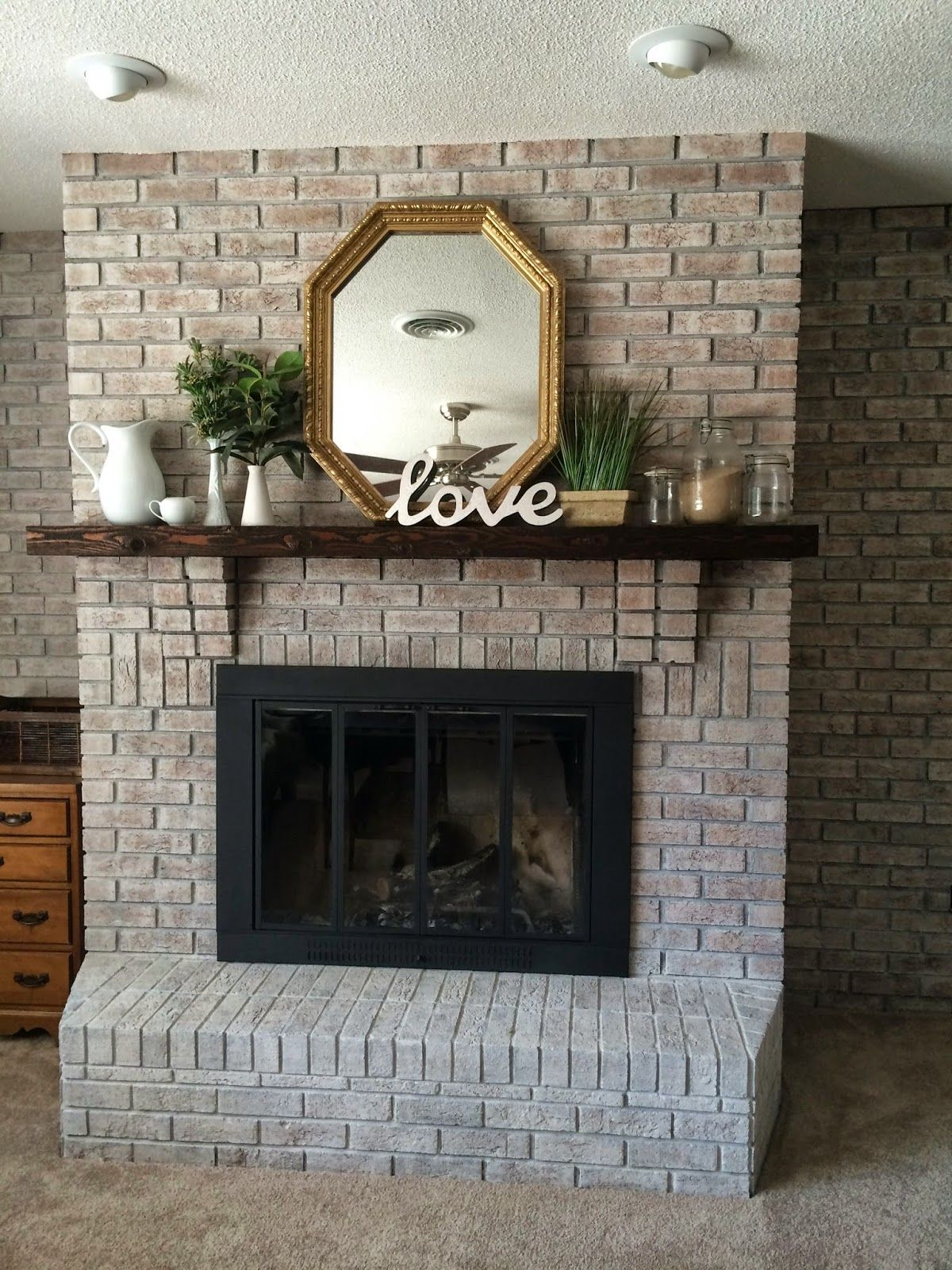 Best Paint for Brick Fireplace New White Washing Brick with Gray Beige Walking with Dancers