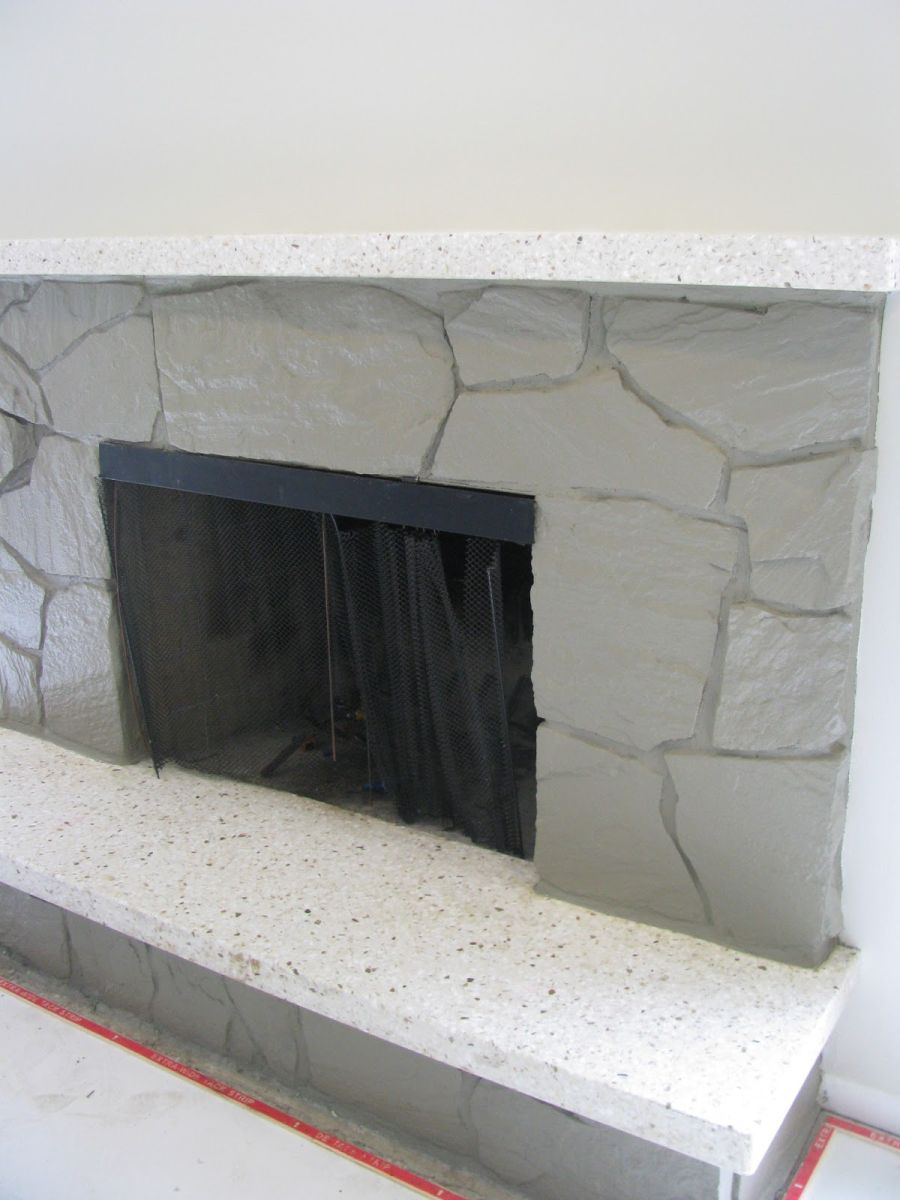 painting rock fireplace2