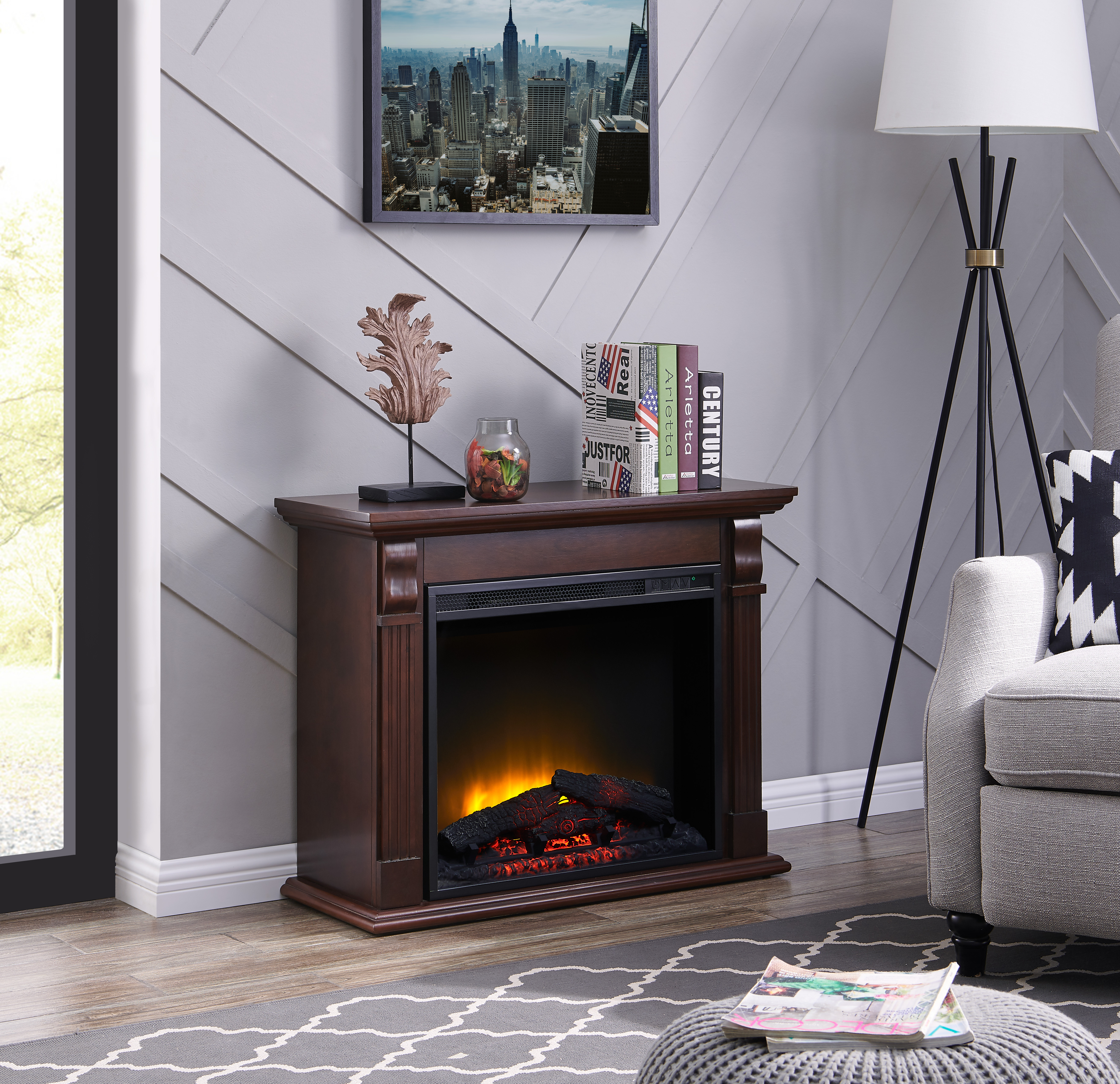 Big Lots Fireplaces Clearance Beautiful Bold Flame 33 46 Inch Electric Fireplace In Chestnut
