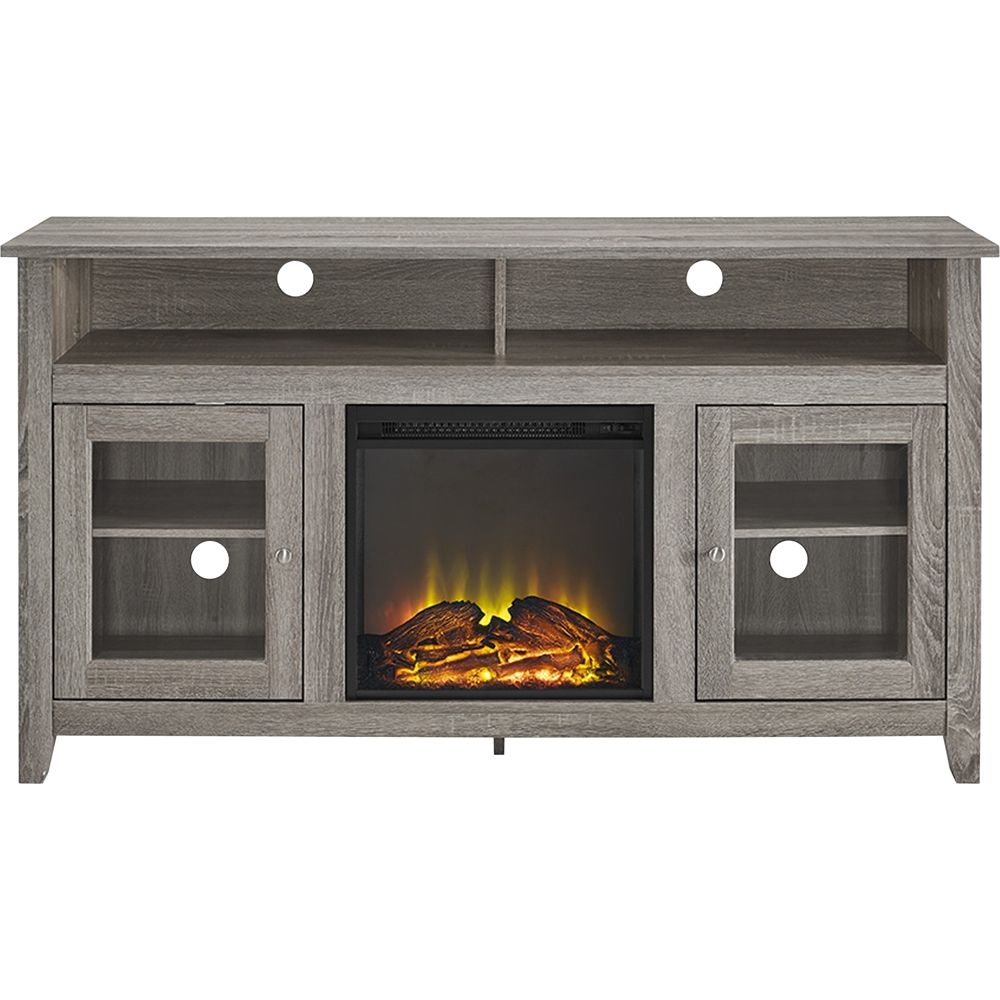 "Big Lots Fireplaces Clearance Luxury Walker Edison Freestanding Fireplace Cabinet Tv Stand for Most Flat Panel Tvs Up to 65"" Driftwood"