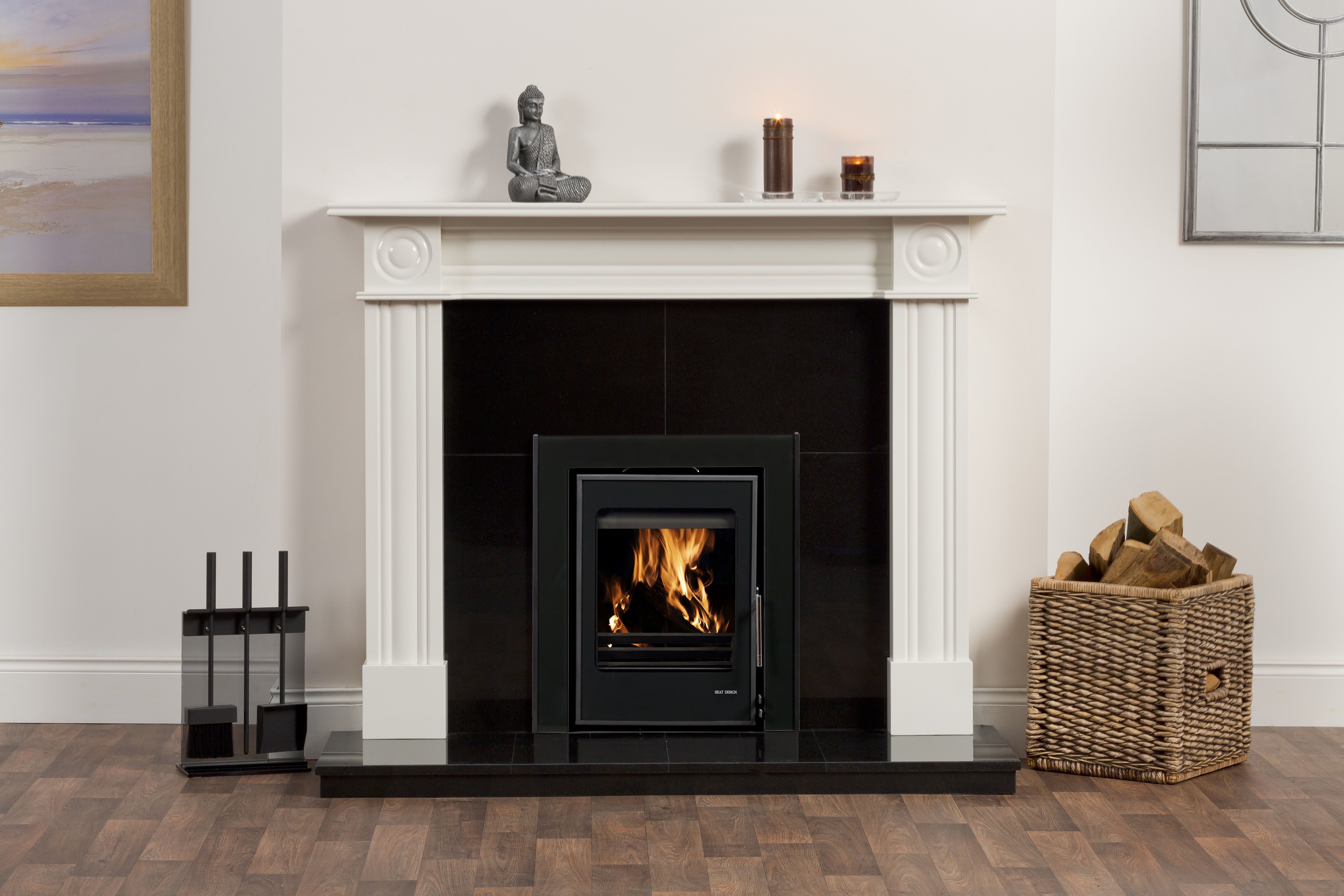 Black and White Fireplace Awesome Regent Pearla White Surround Pictured with A Black Granite
