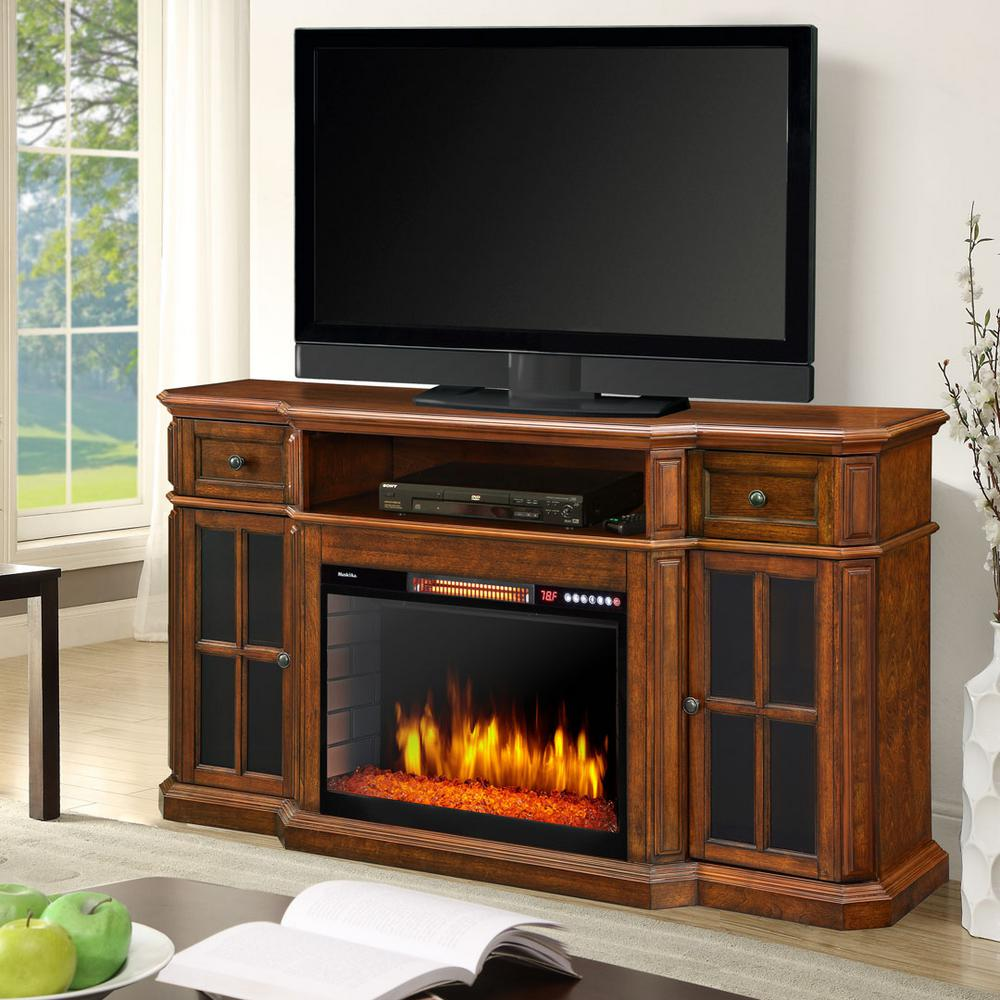 Black Electric Fireplace Entertainment Center Luxury Sinclair 60 In Bluetooth Media Electric Fireplace Tv Stand In Aged Cherry