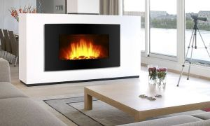 22 Lovely Black Electric Fireplace with Mantel