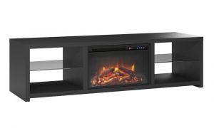 25 Unique Black Fireplace Tv Stand